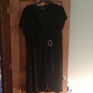 DressBarn black dress with rhinestone